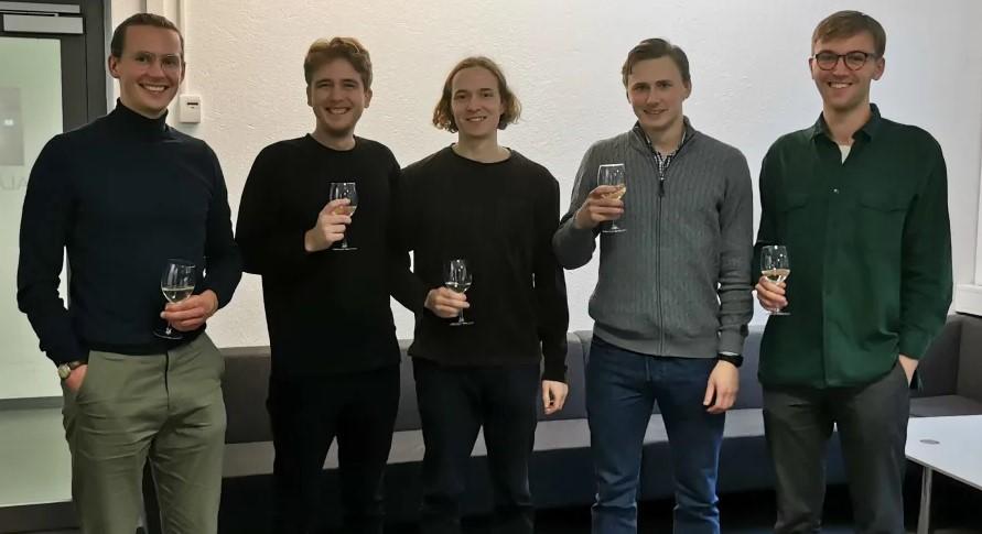 Från vänster: Lag Mellerud PK: Jonas Berg, Marcus Patricks, Edward Sjöblom, Mattis Hallén och Johan Sundström