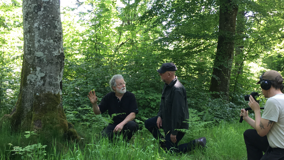 Gunnar Isacsson, Åke Högman och filmaren Johannes Nilsson. Foto: Kristina Larsson